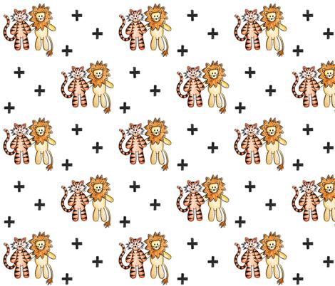 Feline Friends fabric by twinkleandtwine on Spoonflower - custom fabric