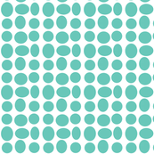 Pebble Dots in Surf (inverted)