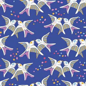 Partygirl - doves in blue
