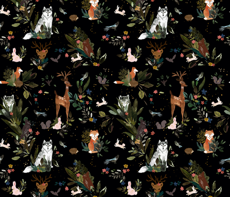 forest animals fabric by crystal_walen on Spoonflower - custom fabric