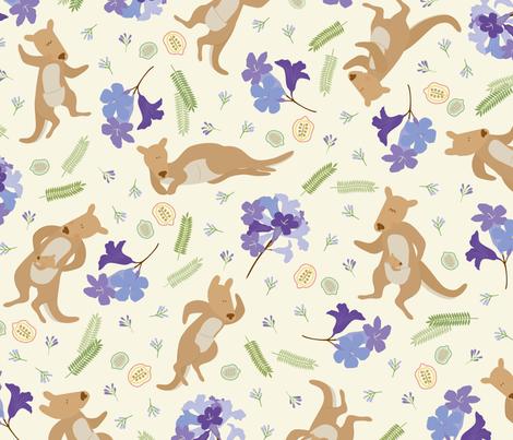 Jump it~ kangaroo fabric by iying on Spoonflower - custom fabric
