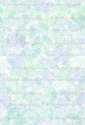 Floral Topography - Cool Colors