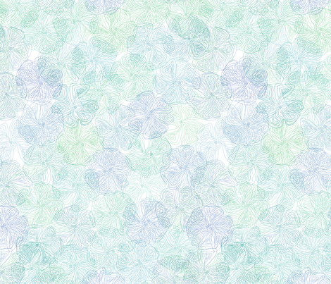 Floral Topography - Cool Colors fabric by gentlysmilingjaws on Spoonflower - custom fabric