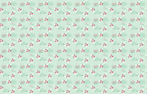 Miss Mouse's Strawberries fabric by danielle_bettina on Spoonflower - custom fabric