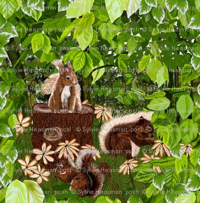 Cute Squirrels Smaller Version