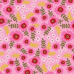 magenta flowers in pink
