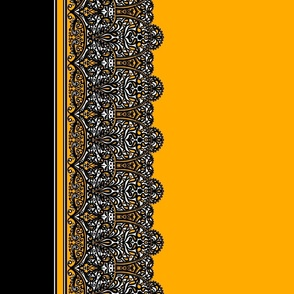 High Contrast Yellow Lace Border