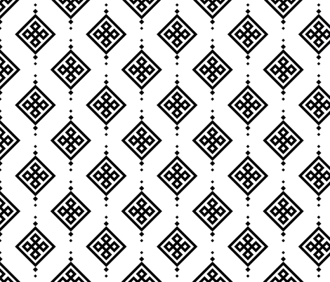 Black geometry fabric by brazhnikova_ekaterina on Spoonflower - custom fabric