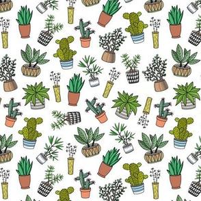 cute doodle houseplants