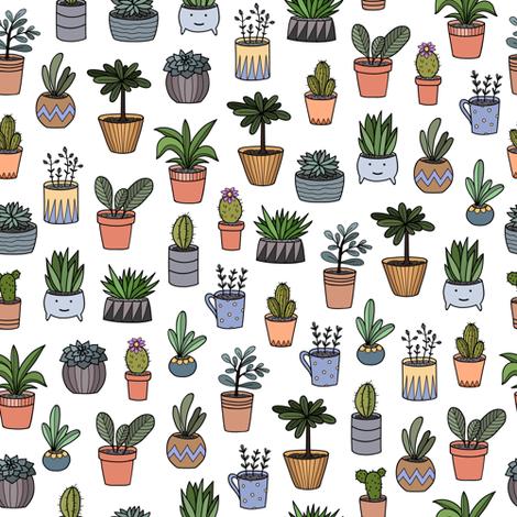 housplants in pots fabric by alenaganzhela on Spoonflower - custom fabric