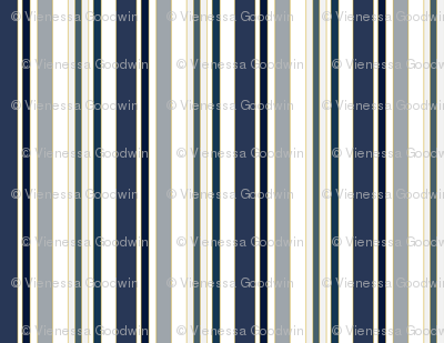 Stripes in naval blues & hues