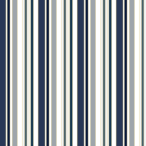 Stripes in naval blues & hues fabric by sharpeirox on Spoonflower - custom fabric