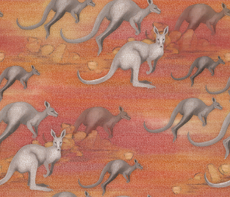 A Mob of Kangaroos fabric by j9design on Spoonflower - custom fabric