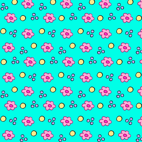 Silly Cats / Ditzy  fabric by franbail on Spoonflower - custom fabric