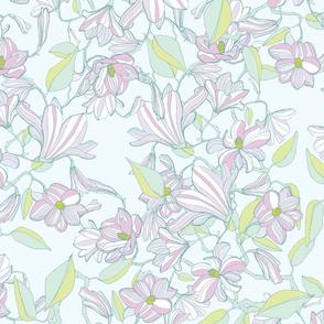 spring magnolia in pastel