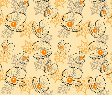 Sea pearls fabric by sandra_bereg on Spoonflower - custom fabric