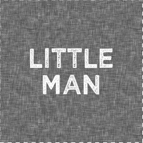 "6"" Little Man Quilt Block with cut lines (grey)"