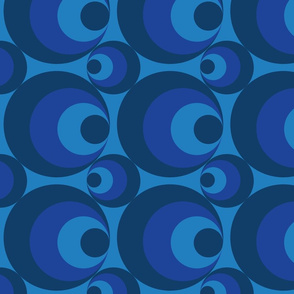 Crazy Blue Circles