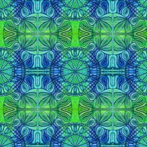 Quilt square green