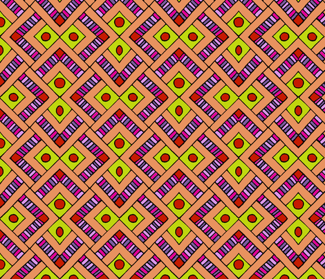 Pattern fragment in orange and yellow fabric by jennablackzen on Spoonflower - custom fabric