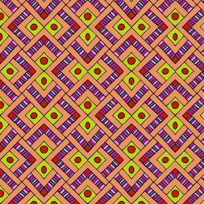 Pattern fragment in orange and yellow