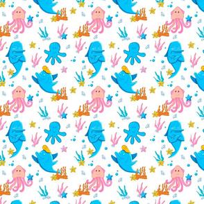 Sea creatures pattern.