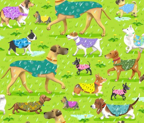 Raincoat Dogs fabric by vinpauld on Spoonflower - custom fabric