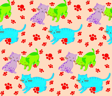 chat?chat! fabric by prayer_birds on Spoonflower - custom fabric