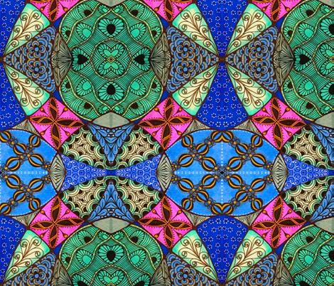 Doodle patchwork fabric by jennablackzen on Spoonflower - custom fabric