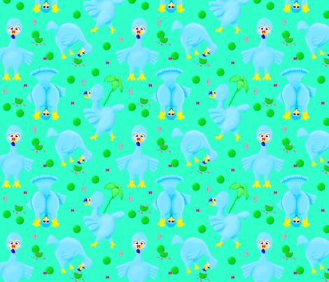 Silly dodos fabric by everhigh on Spoonflower - custom fabric
