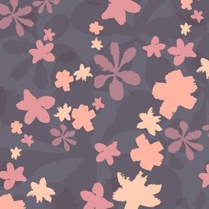 floral cascade - pinks