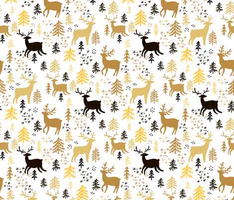 Forest pattern fabric by mistletoe_art on Spoonflower - custom fabric