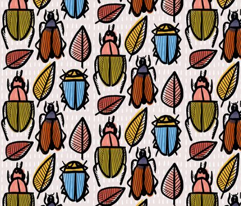 Bug print fabric by anda on Spoonflower - custom fabric