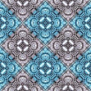 Soft Blue & Silver Spiral Diamonds