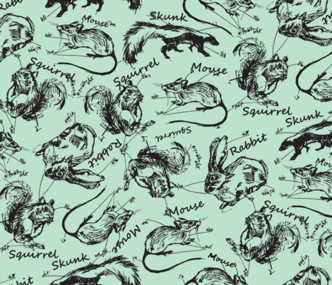 AnimalNotes3 fabric by choffman on Spoonflower - custom fabric