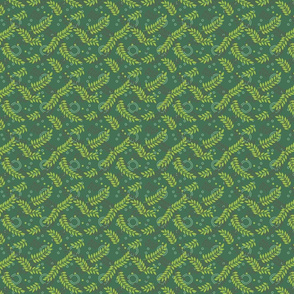 texture with green branches