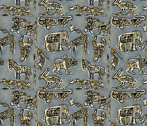 African Animals fabric by christiebcurator on Spoonflower - custom fabric
