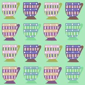 Colourful Teacups