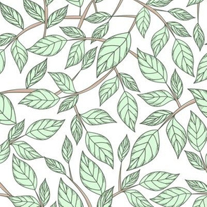 pattern with leaves and branches