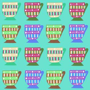 Teacups  - Turquoise