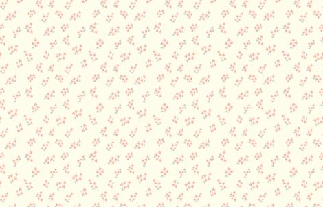 Hello Spring Peach fabric by abearcub on Spoonflower - custom fabric