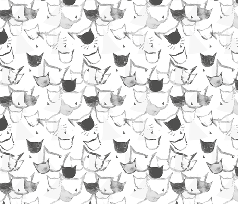 BlackMagicCat fabric by mimikodesigns on Spoonflower - custom fabric