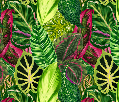 Nana's Wallpaper in Green fabric by elliottdesignfactory on Spoonflower - custom fabric