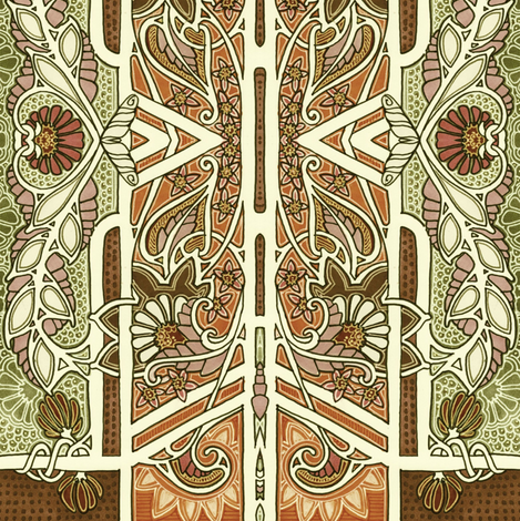 Fade to Browns fabric by edsel2084 on Spoonflower - custom fabric