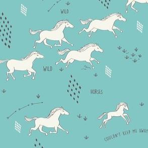 Wild Wild Horses in Torquiose