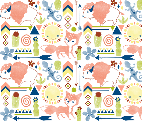 Roaming the Desert fabric by jessica_phillips on Spoonflower - custom fabric
