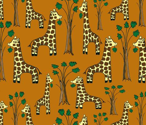 Jiraffes fabric by belana on Spoonflower - custom fabric