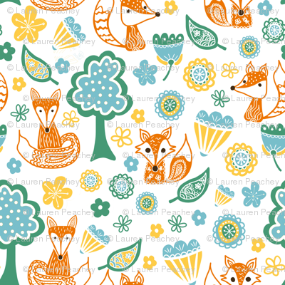 Foxes and Flowers