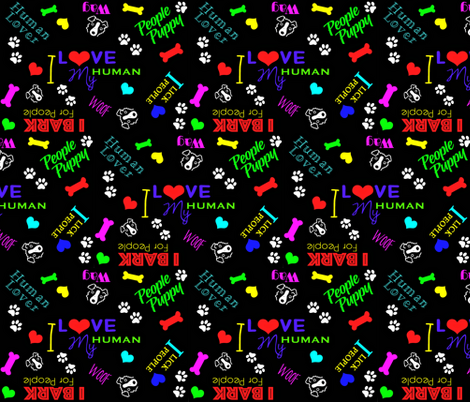 humanloverSF-ed fabric by sassy_puppy_co on Spoonflower - custom fabric
