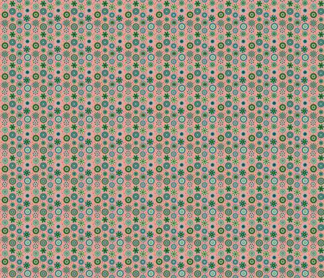 discs on peach 2x2 fabric by leroyj on Spoonflower - custom fabric